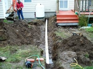 Drainage Services Pipe From Basement